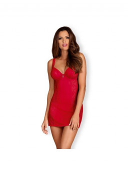 Cорочка Obsessive Rougebelle chemise & thong red L/XL